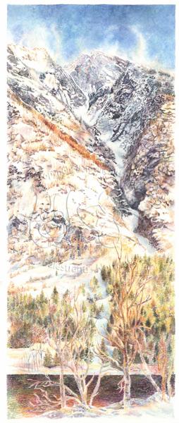 Bekkjeskreda - Gjel frå toppen av Tjuatoten i Esebotn